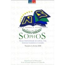 SOPHOS,Revue Internationale de Lettres, Arts, Sciences Humaines et Sociales. Numéro 3, juin 2018